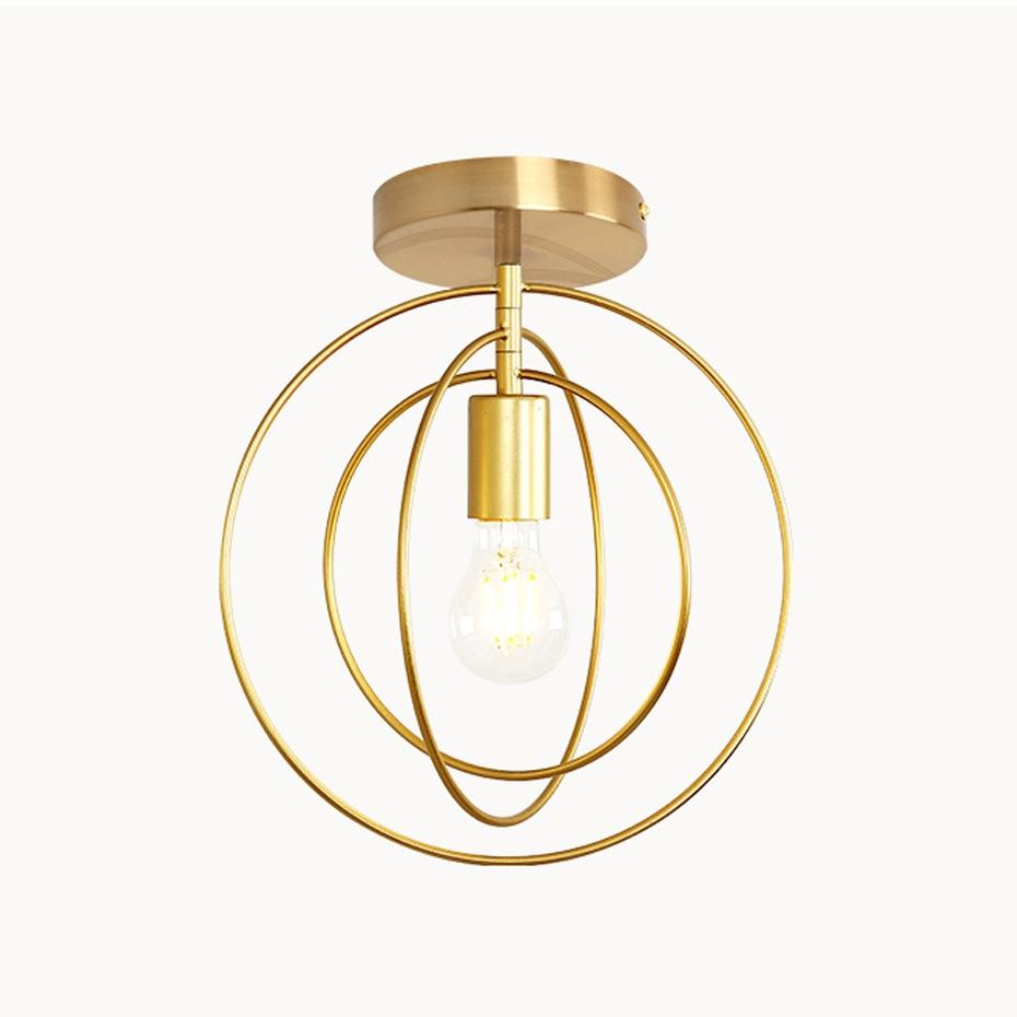 Creative Pentagram Iron Industrial wind Ceiling Light Retro circle E27 Black Gold Ceiling Lamp For Restaurant Innrech Market.com