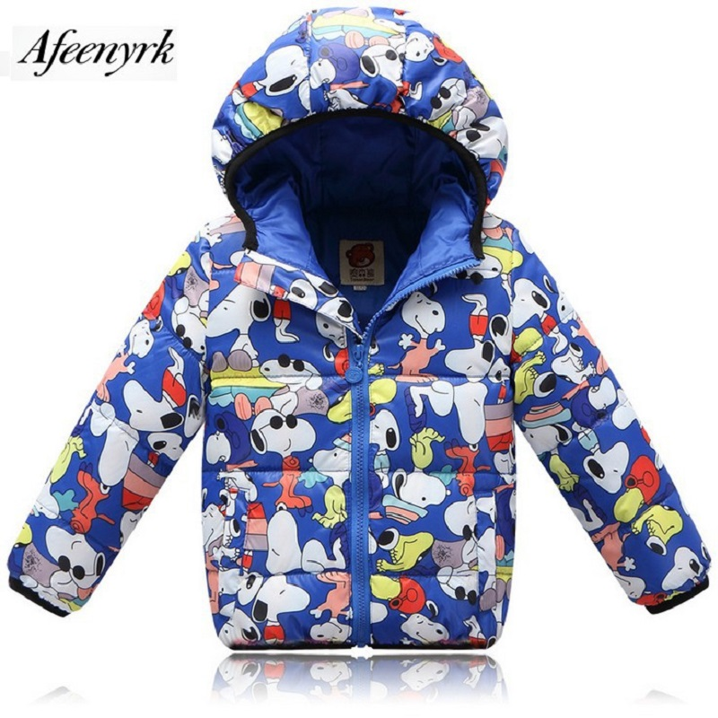 Fashion Winter Jackets For Boys And Girls New Children Down Jacket Short Section Hooded Jacket Baby Cartoon of The Big Child цена и фото