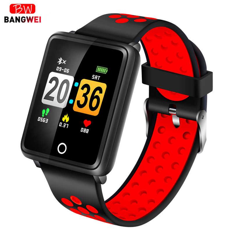 Relogio BANGWEI брендовые Смарт-часы для мужчин и женщин монитор кровяного давления сердечного ритма спортивные часы Шагомер фитнес-трекер для Android