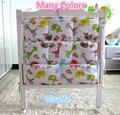 Promoção! Kitty Mickey 62 * 52 cm fraldas organizador cama de bebê pendurado saco de armazenamento portátil jogo de cama