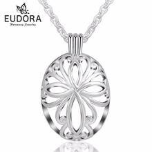 Изящный медальон eudora подвеска с плавающей клеткой ожерелье