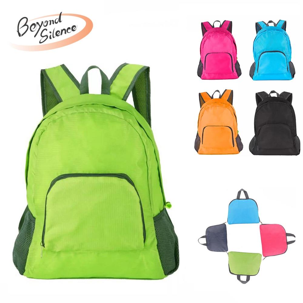 BS Lightweight Nylon Foldable Backpack Waterproof Backpack Folding Sport Bag Portable Men Women Backpack For Travel Muje