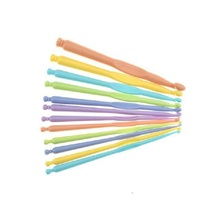 High Quality Set/12 Pcs  ABS Plastic Colourful Weaving Tools Sweater Needle Crochet Template Kit Knitting Needles Tool