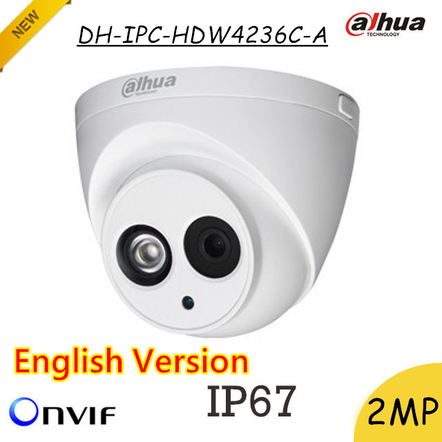 English Dahua 2mp IP Camera DH-IPC-HDW4236C-A Waterproof H.265 IR 50m Built in MIC day/night vision IPC-HDW4236C-A a 9 inch touch screen czy62696b fpc dh 0901a1 fpc03 2 dh 0902a1 fpc03 02 vtc5090a05 gt90bh8016 hxs ydt1143 a1 mf 289 090f