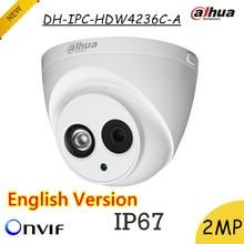 English Dahua 2mp IP Camera DH-IPC-HDW4236C-A Waterproof H.265 IR 50m Built in MIC day/night vision IPC-HDW4236C-A