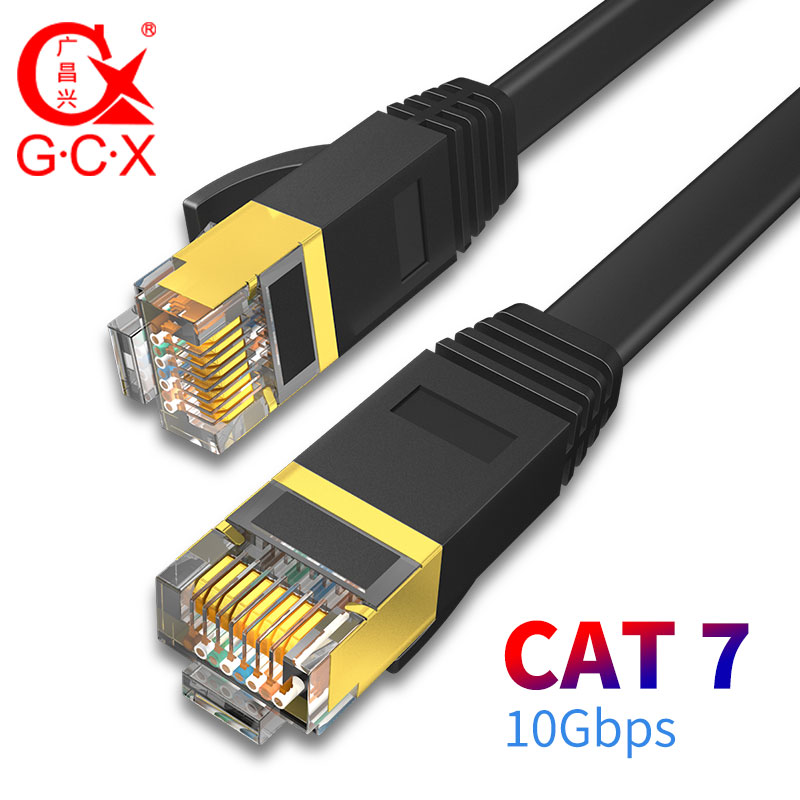 GCX 10Gbps Ethernet Cable CAT7 STP 8P8C Patch Cable RJ45 Internet Networking Lan Cord For PC Router Laptop Cat 7 Cable Network