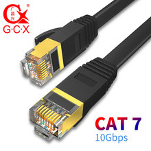 GCX 10Gbps Ethernet Cable CAT7 STP 8P8C Patch Cable RJ45 Internet Networking Lan Cord for PC Router Laptop Cat 7 Cable Network стоимость