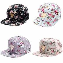 Men Women Baseball Cap Hip Hop Caps Floral Flower Snapback