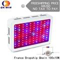 Francia Warehouse trasporto di goccia Qkwin 1000 w LED Coltiva La Luce con 100 pz doppio chip di 10 w Spettro Completo LED coltiva la Luce