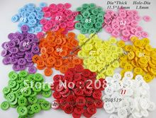 NB088 resin buttons 500pcs round 11.5mm 4-holes sleeve mixed colors wholesale&retails