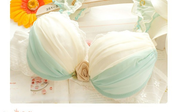 Dream Angels 14 New Women Push Up Bra Sets Breast Flower Lace Bra Women Underwear Sexy Lingerie Brand Bra & Brief Sets 19