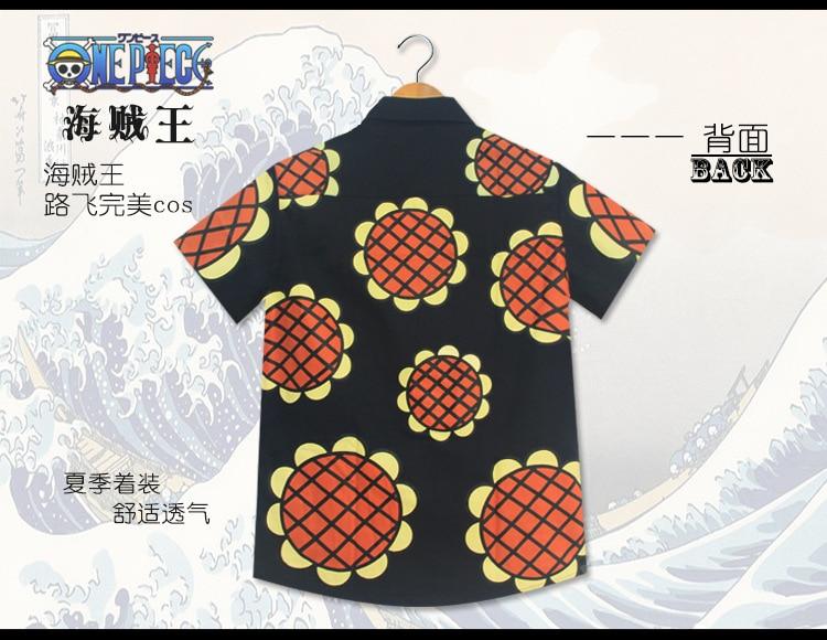 One Piece Luffy T-Shirt Shirt Corrida Colosseum Dressrosa Anime Sunflower Tops