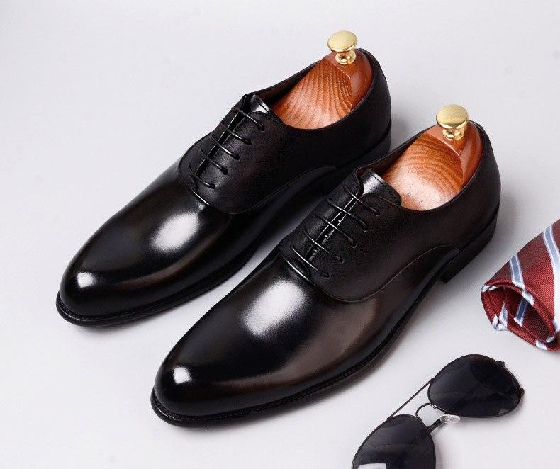 Homens Sapatos Dois Italiano Genuíno Formal Luxo Preto Couro Festa Tons Da Dos Alta Qyfcioufu Qualidade vermelho Vestido De Vaca Vinho Marca S5IqFw