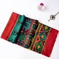 Fashion style new arrvial red color aztec tribal pope printed scarf viscose voile women beach towel shawl from india design