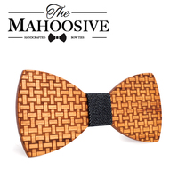 Mahoosive High Quality Butterfly Men Tie Bow 2017 Fun Personality Wooden Bow Ties Bowtie Butterflies Gift
