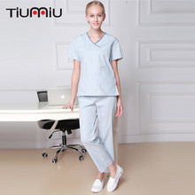 2018 Hot Sale Medical Uniform Women Scrub Sets Nurse Uniform Hospital Dental Clinic Spa Beauty Salon Fashion Design Jacket+Pants(China)