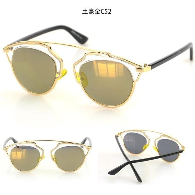87bc497af 2015 New Vintage Metal frame Cat Eye Sunglasses Classic Fashion sun glasses  Women Men Brand Designer