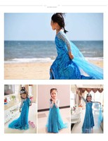 Multicolor High Quality Costume Anna Elsa Dress For Baby Girl Party Princess Dress Cosplay Sophi Children