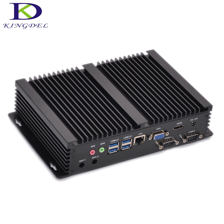 Fanless mini industrial PC Intel i7 5550U i3 4010U 5005U i5 4200U 6GB RAM 2 COM