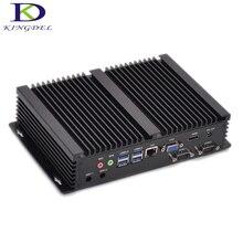 Безвентиляторный мини промышленного PC Intel i7 i3 4010U 5550U 5005U i5 4200U 6 ГБ RAM 2 COM RS232 HDMI Неттоп компьютер Destop PC Черный Кну