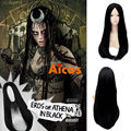 Suicide Squad Enchantress Katana Cosplay Wig Black Long Straight Synthetic Wigs