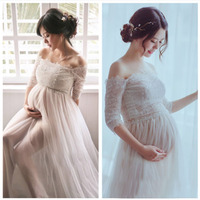 Lace Vestidos Maternity Photography Props White Pregnancy Dress Photography Maternity Dresses For Photo Shoot Pregnant Clothes