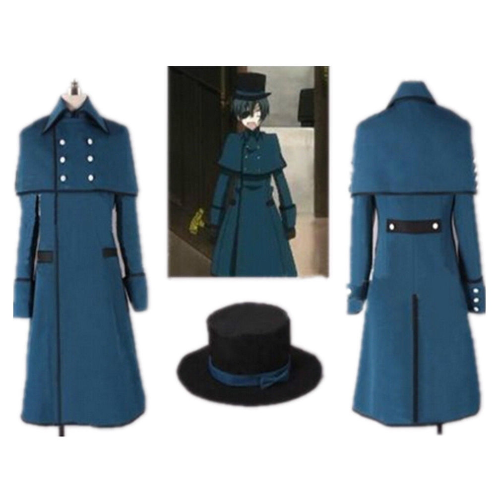 Black Butler Kuroshitsuji Ciel Phantomhive Cosplay Birthday Costume cosplay Custom Made Free Shipping