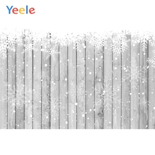 Yeele Gray Wooden Board Snowflake Planks Portrait Photography Backgrounds Customized Photographic Backdrops for Photo Studio