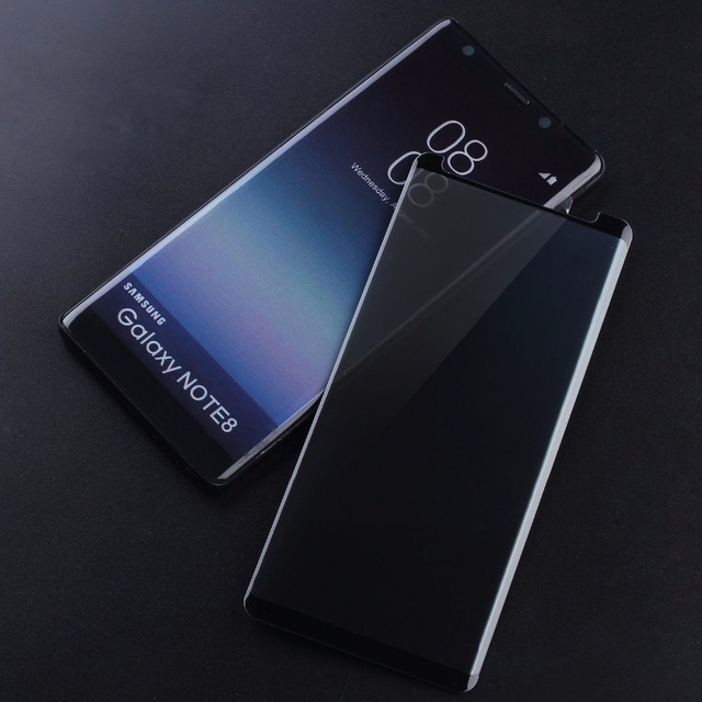 finest selection 51fda 60071 US $5.4 5% OFF S9Plus Case Fit Glass For Samsung Galaxy S8 S9 Plus Note 8  Case Friendly Privacy Glass Screen Protector AntiSpy Tempered Glass-in  Phone ...
