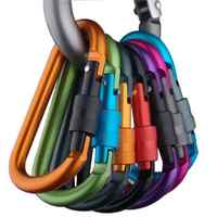 8cm Aluminum Carabiner D-Ring Key Chain Clip Camping Keyring Snap Hook Outdoor Travel Kit camping equipment