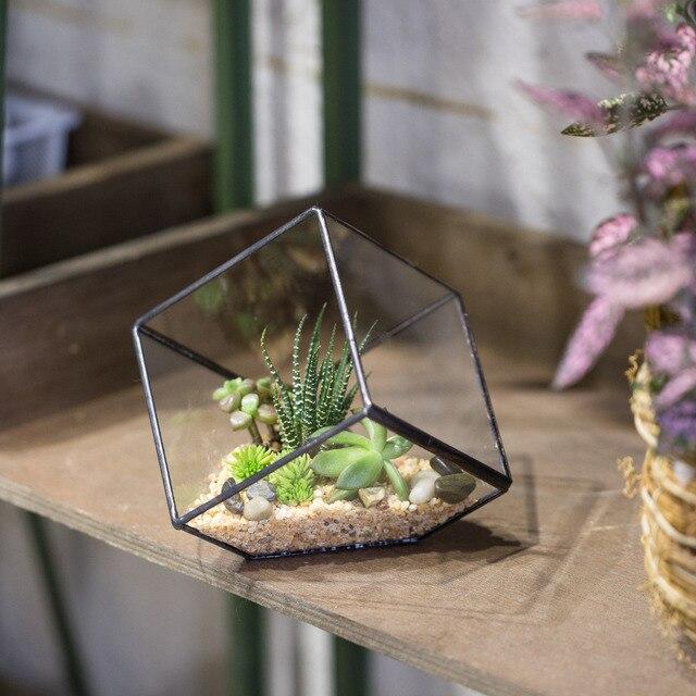 Tavolo Cubo Da Giardino.10 Cm Propenso Cubo Vaso Di Vetro Geometrica Terrario Da Tavolo Vaso