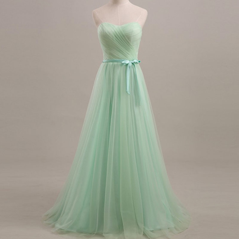 2016 Long Pastel Mint Evening Dress off Shoulder ...