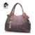 Marca Nuevo diseñador de LA PU del bolso de cuero ahuecan hacia fuera bolsos bolso de las señoras de degradado de color de la borla de hombro portátil bolsa