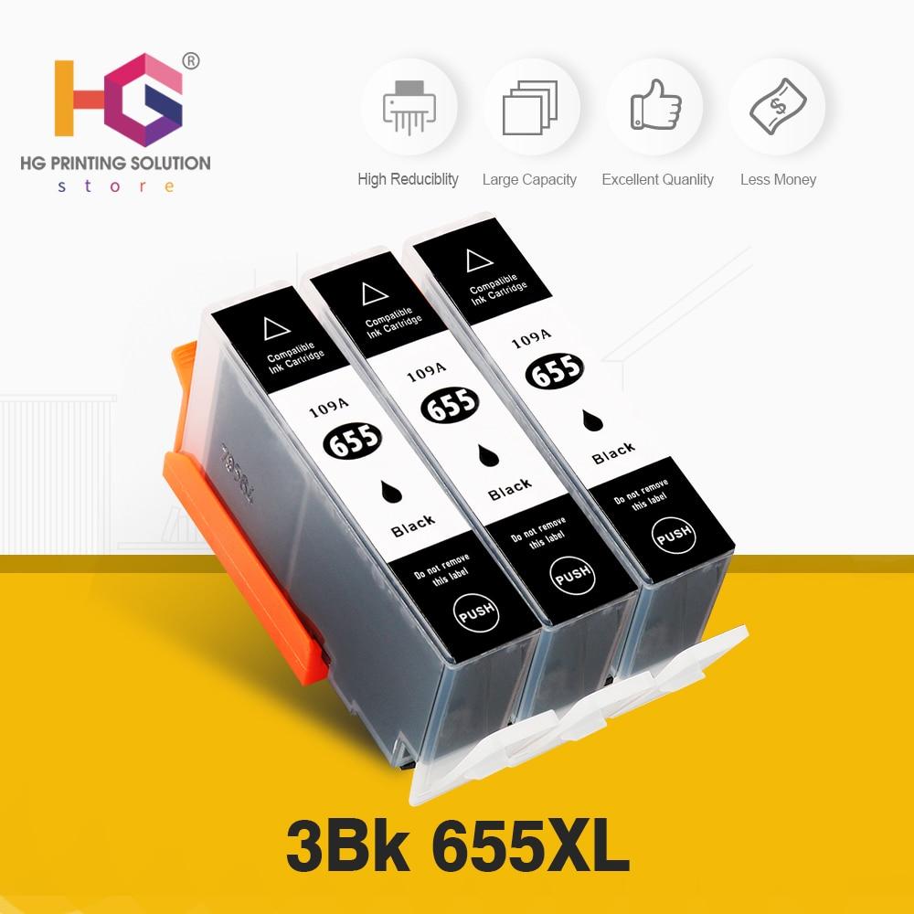 Substituição Do Cartucho De Tinta para HP 655 para HP655 QSYRAINBOW para deskjet 3525 5525 4615 4625 4525 6520 6525 6625 Printer 3pcs