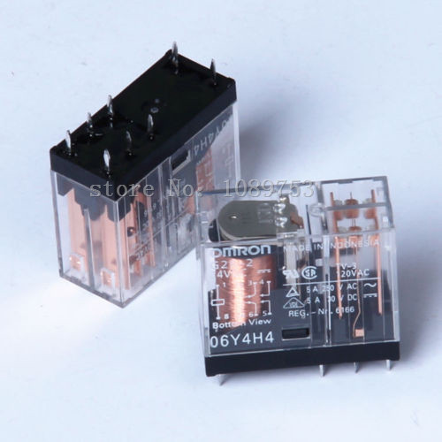 2PCS 8Pins G2R-2-24VDC G2R-2 24VDC 5A Relay fused 4 dpdt 5a power relay interface module g2r 2 12v dc relay