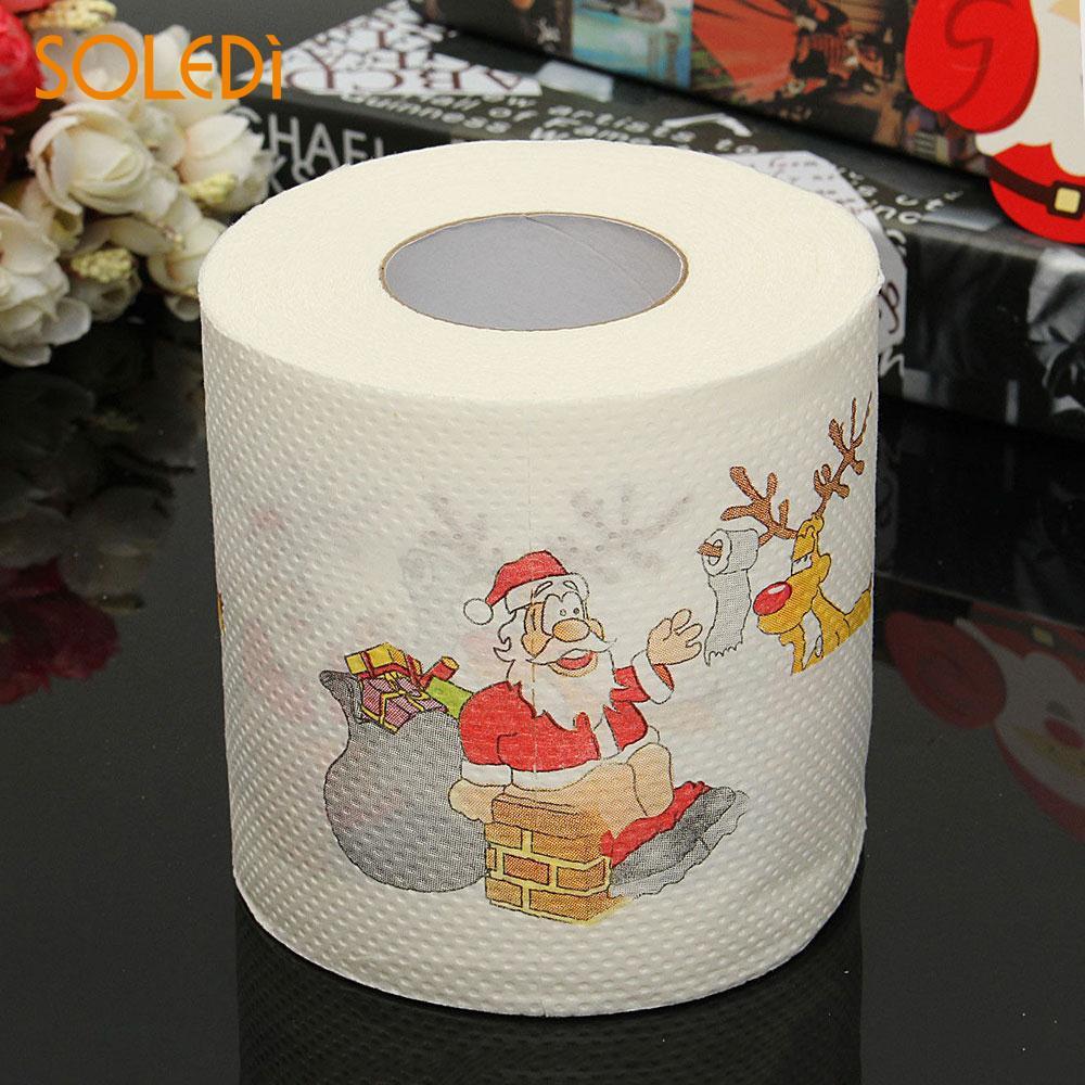 Santa Claus Decor Christmas Supplies Hot Home Bath Toilet Roll Paper Tissue NEW