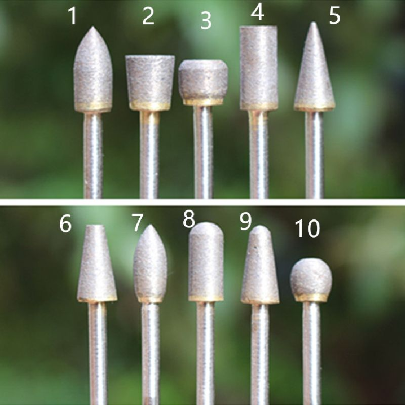 3mm Shank 600 Grit Sintered Diamond Grinding Head Finest Grit Diamond Glass Jade Ceramics Fine Polishing Tool Sintered Burs  цены