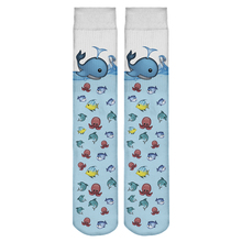 Hot Sale New Harajuku Women Socks Funny 3D Full Print Emoji Fish Ombre Casual Fitness Hosiery