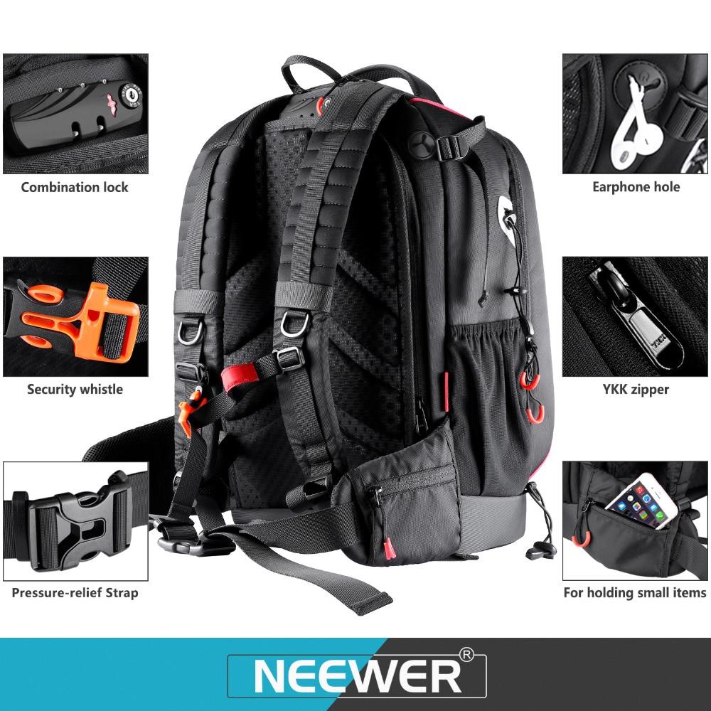 Neewer Pro étui pour appareil photo étanche antichoc réglable rembourré sac à dos pour appareil photo avec serrure à combinaison antivol pour DSLR DJI - 4