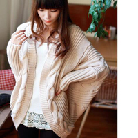 2016 Hot Sale Fashion Women Sweater 7colors Style Knitted Loose Back Split Thick Batwing Sleeve Warm