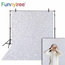 Funnytree Shinning Photography backdrop for photo Studio Senior Art fabric Background for newborn silver boken Backdrops стоимость