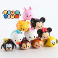 10 pcs Tsum Tsum mini lot Minnie mouse Mickey mouse Winnie Dumbo figures PVC dolls 4cm color box for gifts free shipping