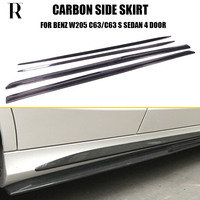 W205 C63 PSM Style Carbon Fiber Side Extension Skirt for Mercedes Benz W205 C63 & C63s AMG Sedan 4 Door 2015 2017