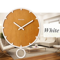 2016 New Arrival Contracted Circular Wood Wall Clock On Wall Quartz Alarm Clock In The Bed