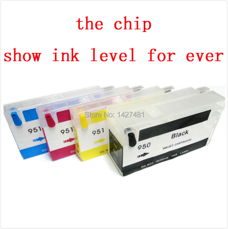1set Empty refill ink cartridge for HP 950xl 951xl HP950 for HP Officejet Pro 8100 8600 8640 printer(show ink level for ever) hp564 for hp photosmart c6350 all in one printer empty refill ink cartridge with auto reset chips