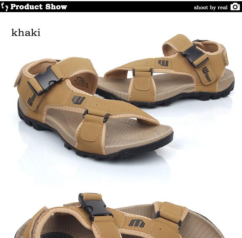 568f56112 Shop Sport Gent Sandals Leather Comfortable Summer Sandals Men Sea ...