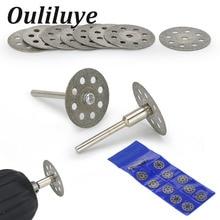 цена на 12PCS 20/22/25mm Dremel Accessories Diamond Grinding Wheel Circular Saw Cutting Disc Diamond Abrasive Disc Dremel Rotary Tool