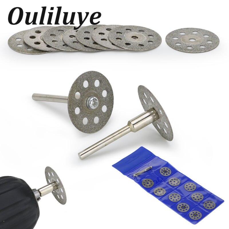20/22/25mm For Dremel Accessories Diamond Grinding Wheel Circular Saw Cutting Disc Diamond Abrasive Disc Dremel Rotary Tool