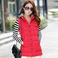 Весна и осень Жилет женский верхняя одежда 2016 новая мода рукавов куртка женщин куртки и пальто длинные стройные женщины костюм жилет красный