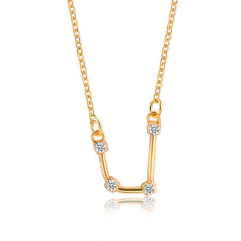 Gold Color Star Zodiac Sign Constellation Necklaces & Pendants Choker Necklaces 1